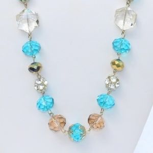 Elegant Boho Necklace Single Strand Crystal Bead